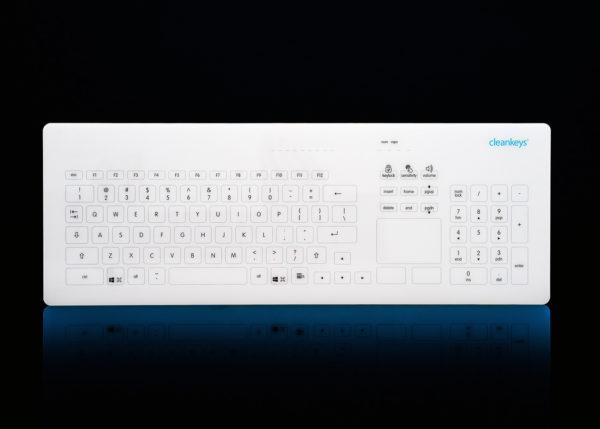 Clavier tactile filaire avec touchpad - Cleankeys®CK4