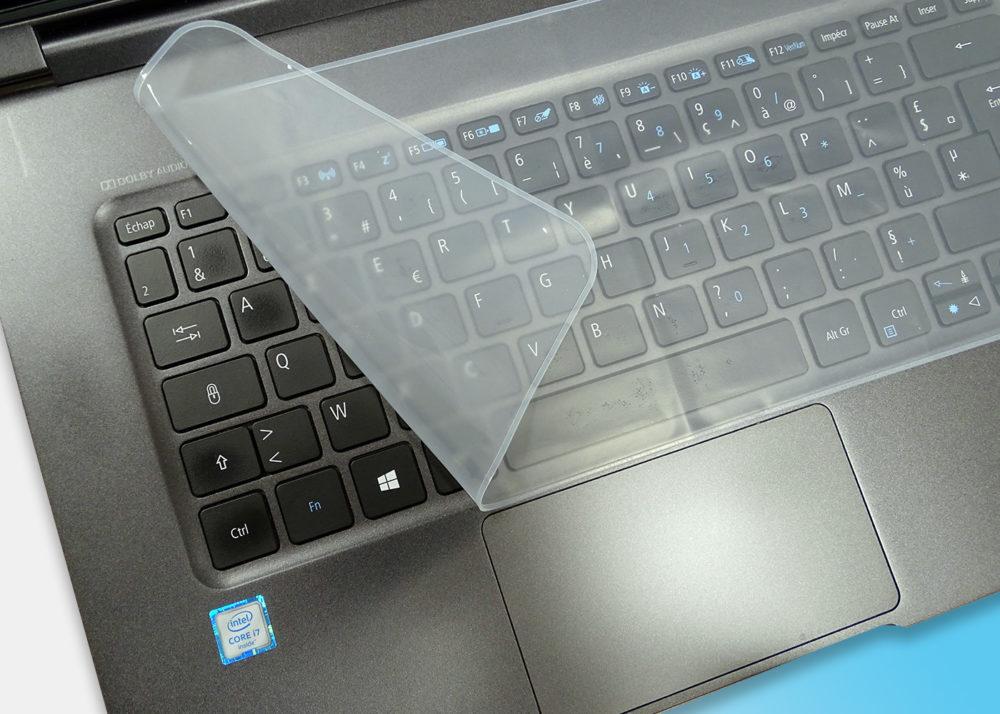 """Membrane silicone pour PC NoteBook 12"""", 14"""" et 17"""" - Souple et résistante"""