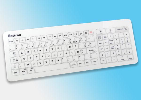 Bastron® B45-USB - Le clavier tactile capacitif filaire en verre avec touchpad