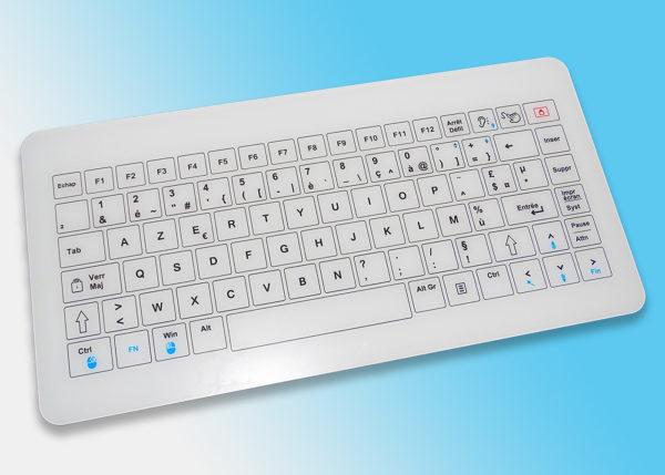 Bastron® B45-Mini - Le clavier tactile capacitif filaire compact avec touchpad géant