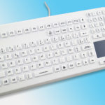Clavier lavable avec touchpad série InduProof Advanced – Blanc