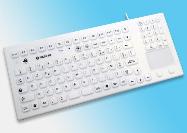 Clavier lavable rétroéclairé avec touchpad série InduProof Smart