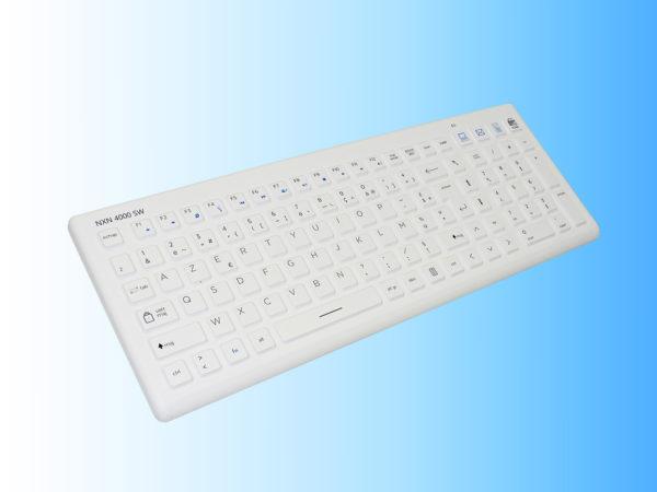 Clavier médical silicone lavable sans fil